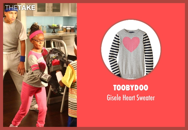 Toobydoo gray sweater from Black-ish seen with Diane Johnson (Marsai Martin)