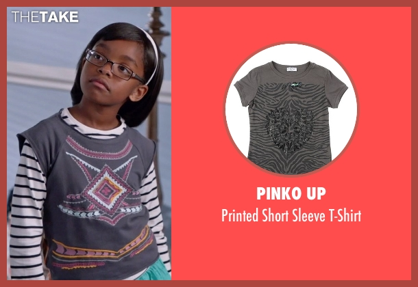 Pinko Up gray t-shirt from Black-ish seen with Diane Johnson (Marsai Martin)