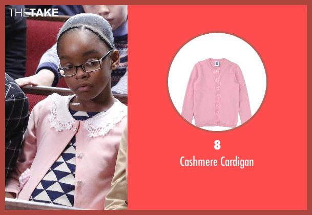 8 pink cardigan from Black-ish seen with Diane Johnson (Marsai Martin)