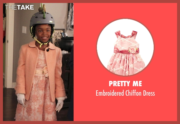 Pretty Me pink dress from Black-ish seen with Diane Johnson (Marsai Martin)