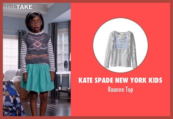 Kate Spade New York Kids white top from Black-ish seen with Diane Johnson (Marsai Martin)