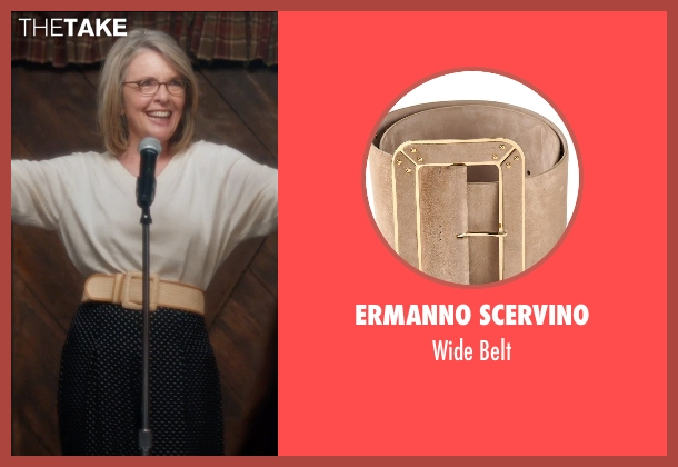 Ermanno Scervino beige belt from And So It Goes seen with Diane Keaton