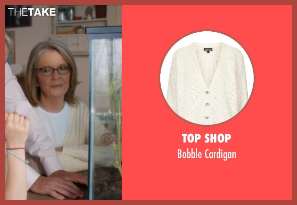 Top Shop beige cardigan from And So It Goes seen with Diane Keaton