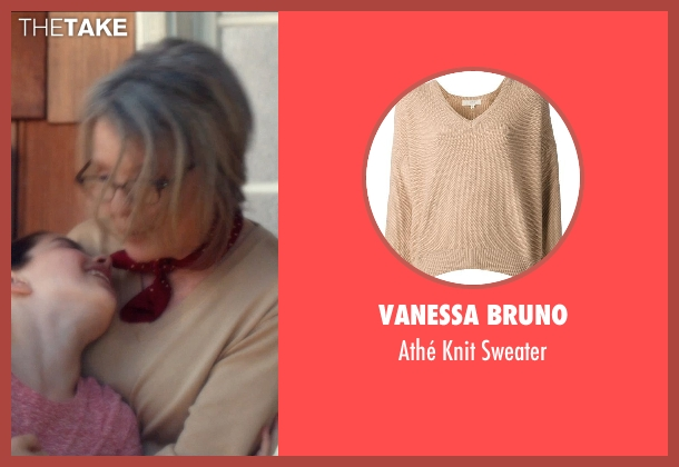 Vanessa Bruno beige sweater from And So It Goes seen with Diane Keaton