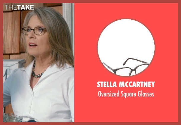 Stella McCartney black glasses from And So It Goes seen with Diane Keaton (Leah)