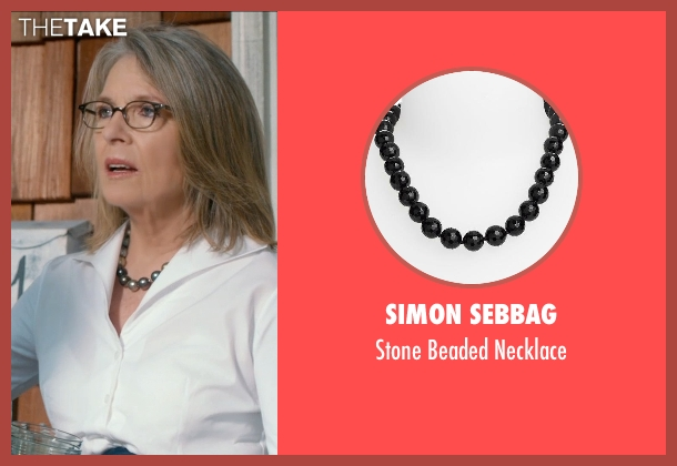 Simon Sebbag black necklace from And So It Goes seen with Diane Keaton