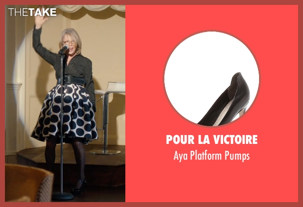 Pour La Victoire black pumps from And So It Goes seen with Diane Keaton