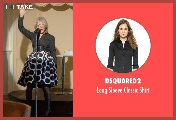 Dsquared2 black shirt from And So It Goes seen with Diane Keaton