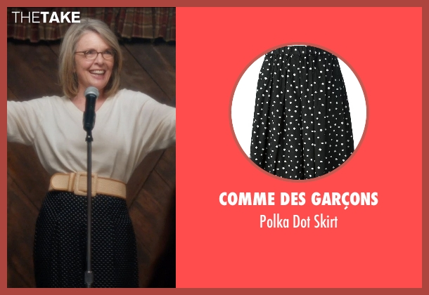 Comme Des Garçons black skirt from And So It Goes seen with Diane Keaton