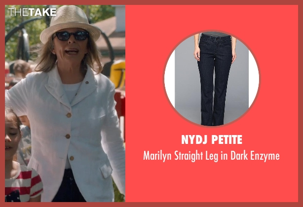 NYDJ Petite blue enzyme from And So It Goes seen with Diane Keaton