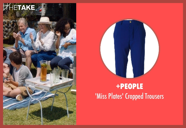 +PEOPLE blue trousers from And So It Goes seen with Diane Keaton