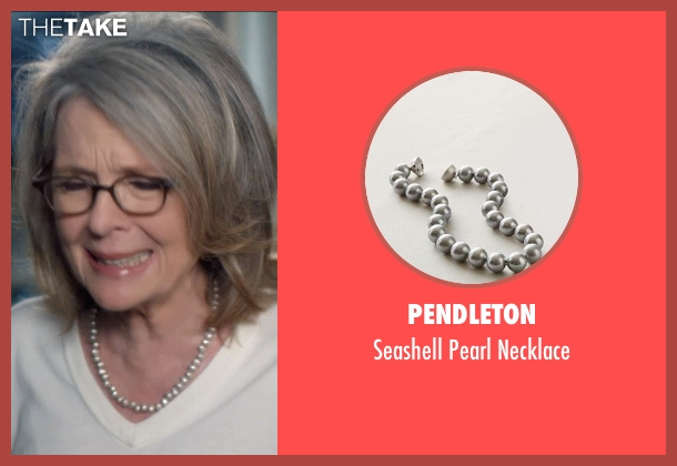 Pendleton gray necklace from And So It Goes seen with Diane Keaton