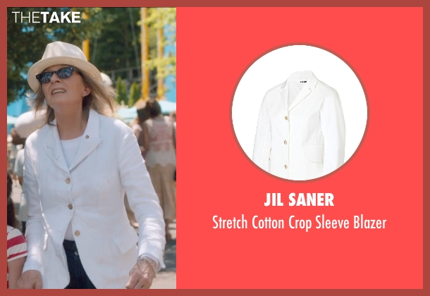 Jil Saner white blazer from And So It Goes seen with Diane Keaton