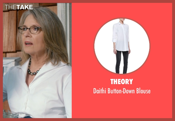 Theory white blouse from And So It Goes seen with Diane Keaton (Unknown Character)