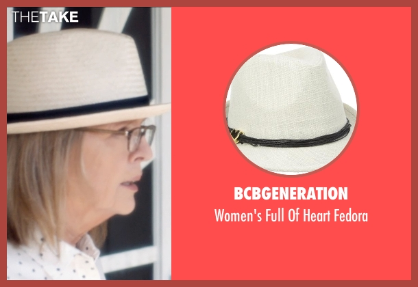 BCBGeneration white fedora from And So It Goes seen with Diane Keaton