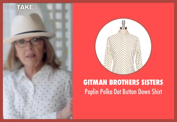 Gitman Brothers Sisters white shirt from And So It Goes seen with Diane Keaton