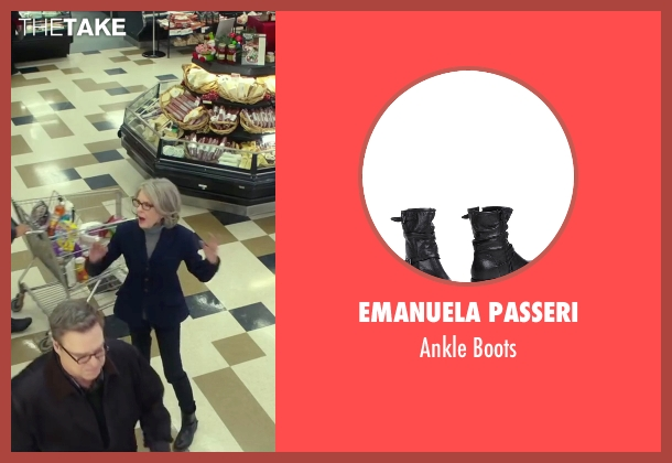 Emanuela Passeri black boots from Love the Coopers seen with Diane Keaton (Charlotte)