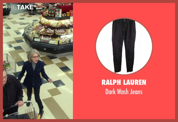 Ralph Lauren black jeans from Love the Coopers seen with Diane Keaton (Charlotte)