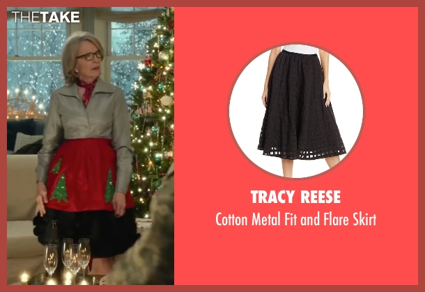 Tracy Reese black skirt from Love the Coopers seen with Diane Keaton (Charlotte)