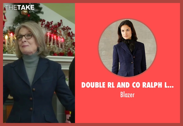 Double RL and CO Ralph Lauren blue blazer from Love the Coopers seen with Diane Keaton (Charlotte)