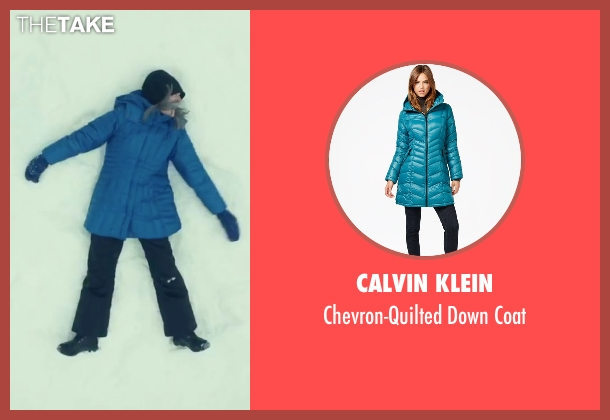 Calvin Klein blue coat from Love the Coopers seen with Diane Keaton (Charlotte)