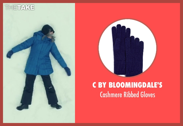 C By Bloomingdale's blue gloves from Love the Coopers seen with Diane Keaton (Charlotte)