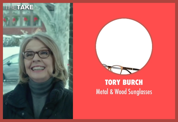 Tory Burch brown sunglasses from Love the Coopers seen with Diane Keaton (Charlotte)