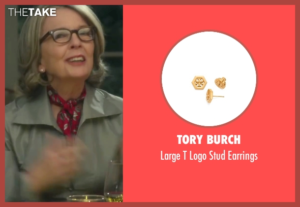 Tory Burch gold earrings from Love the Coopers seen with Diane Keaton (Charlotte)