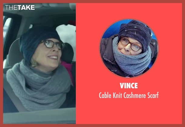 Vince gray scarf from Love the Coopers seen with Diane Keaton (Charlotte)