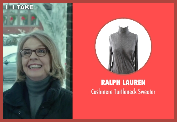 Ralph Lauren gray sweater from Love the Coopers seen with Diane Keaton (Charlotte)