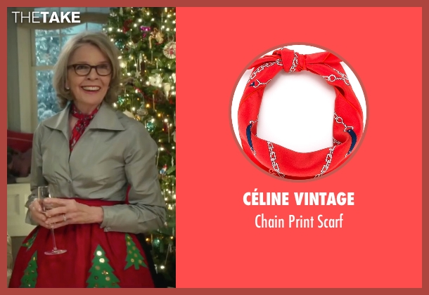 Céline Vintage red scarf from Love the Coopers seen with Diane Keaton (Charlotte)