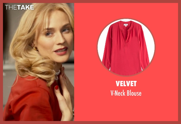 Velvet red blouse from The Infiltrator seen with Diane Kruger (Kathy Ertz)