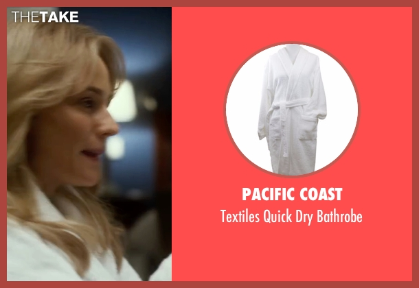 Pacific Coast white bathrobe from The Infiltrator seen with Diane Kruger (Kathy Ertz)