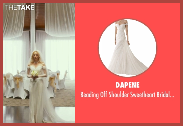 Dapene white gown from The Infiltrator seen with Diane Kruger (Kathy Ertz)