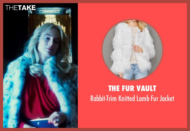 The Fur Vault white jacket from The Infiltrator seen with Diane Kruger (Kathy Ertz)