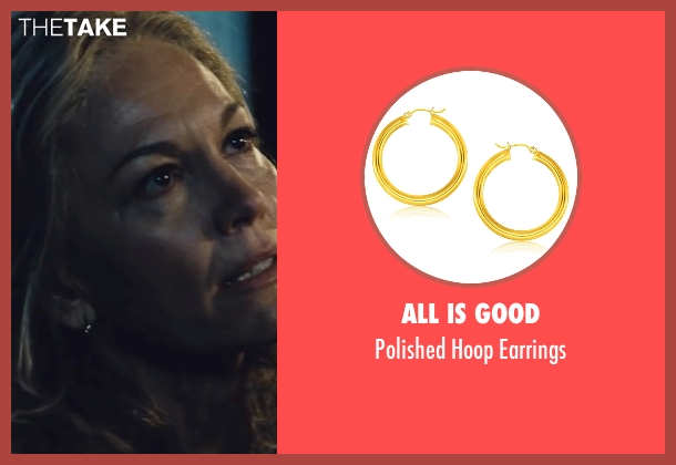 All Is Good gold earrings from Batman v Superman: Dawn of Justice seen with Diane Lane (Martha Kent)