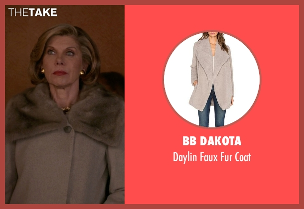 BB Dakota beige coat from The Good Wife seen with Diane Lockhart (Christine Baranski)