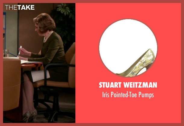 Stuart Weitzman beige pumps from The Good Wife seen with Diane Lockhart (Christine Baranski)