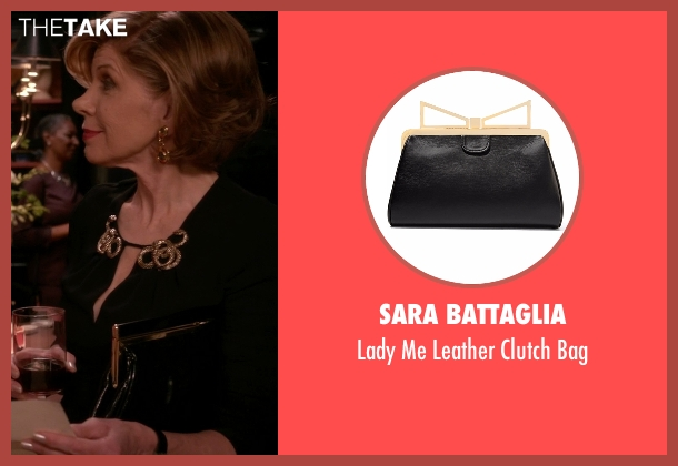 Sara Battaglia black bag from The Good Wife seen with Diane Lockhart (Christine Baranski)