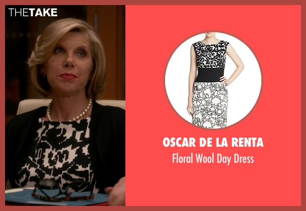 Oscar De La Renta black dress from The Good Wife seen with Diane Lockhart (Christine Baranski)