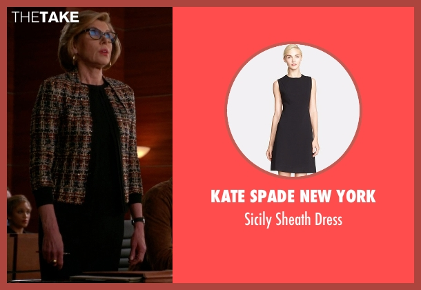 Kate Spade New York black dress from The Good Wife seen with Diane Lockhart (Christine Baranski)