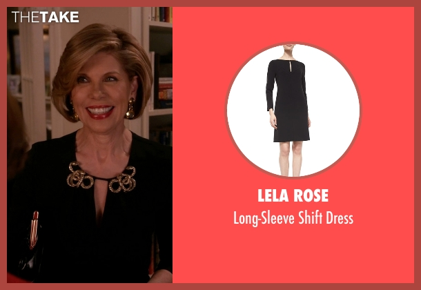 Lela Rose black dress from The Good Wife seen with Diane Lockhart (Christine Baranski)