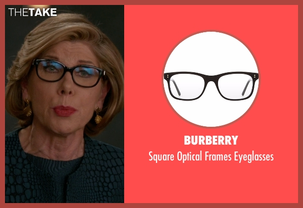 Burberry black eyeglasses from The Good Wife seen with Diane Lockhart (Christine Baranski)