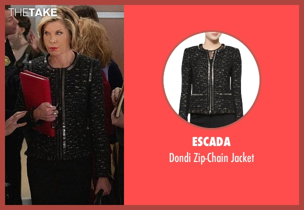 Escada black jacket from The Good Wife seen with Diane Lockhart (Christine Baranski)