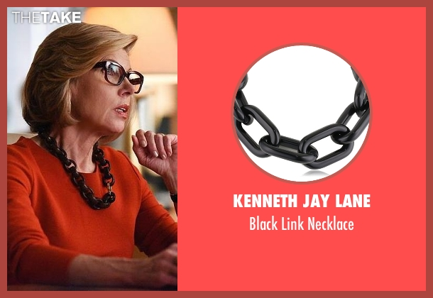 Kenneth Jay Lane black necklace from The Good Wife seen with Diane Lockhart (Christine Baranski)