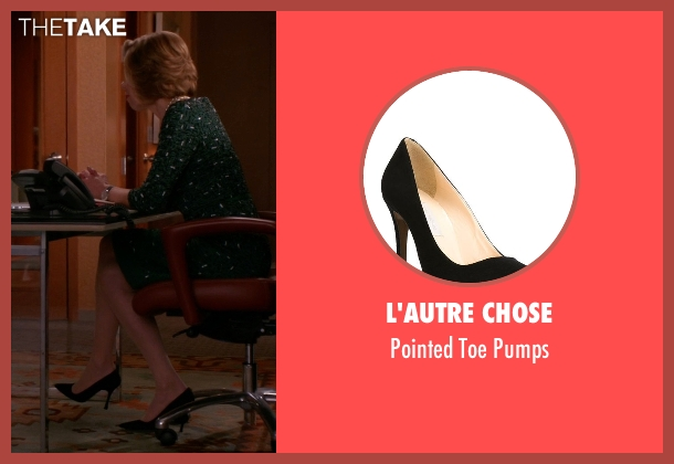 L'Autre Chose black pumps from The Good Wife seen with Diane Lockhart (Christine Baranski)