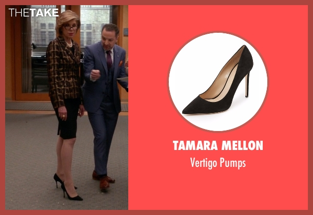 Tamara Mellon black pumps from The Good Wife seen with Diane Lockhart (Christine Baranski)