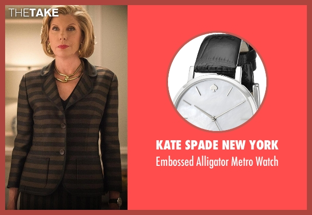 Kate Spade New York black watch from The Good Wife seen with Diane Lockhart (Christine Baranski)