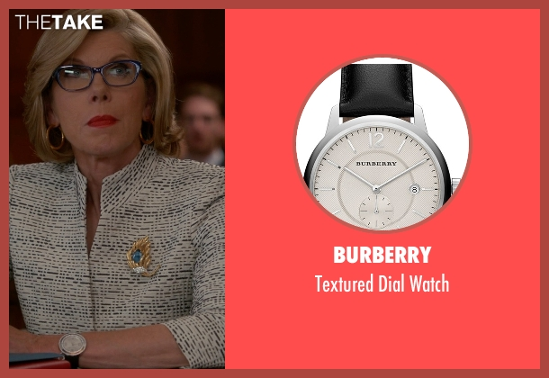 Burberry black watch from The Good Wife seen with Diane Lockhart (Christine Baranski)