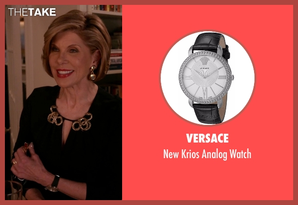 Versace black watch from The Good Wife seen with Diane Lockhart (Christine Baranski)